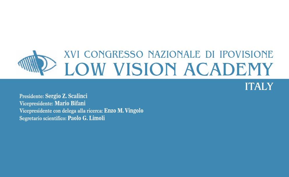 XVI Congresso Di Ipovisione Low Vision Academy Italy