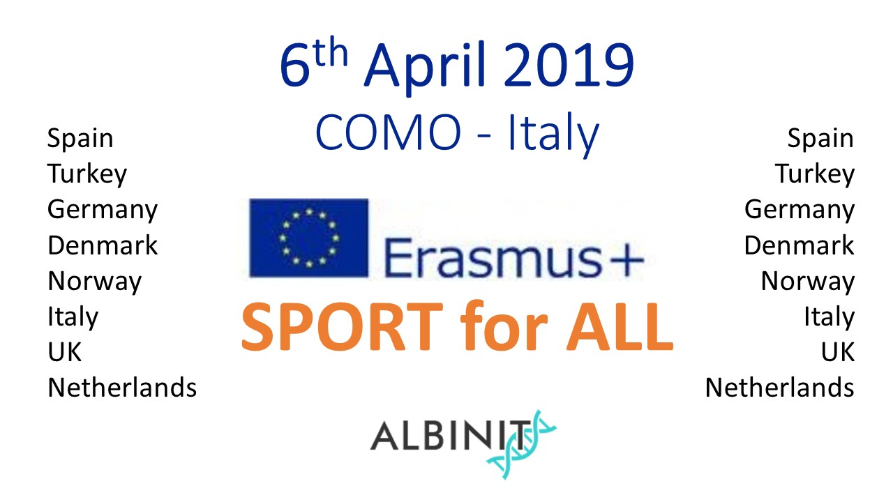 Erasmus+ 2019 Sport Project – Meeting 01 – COMO April 06 Italy